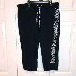 Fox Black Graphic Capri Sweatpants sz Large